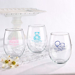 Personalized Stemless Wine Glass 15 oz. (Baby)
